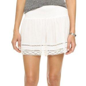 Rebecca Taylor Gauze Ruched Shorts